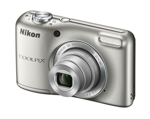 Nikon Coolpix L28 Silver Camera Kit inc 4x AA Batteries, Charger, Case & 4GB SD