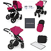 ickle bubba Stomp V2 AIO/Buggy Lights/Mosquito Net Travel System - Pink