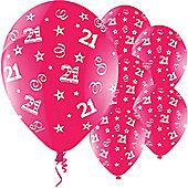 11' Birthday Perfection 21 Fuchsia (25pk)