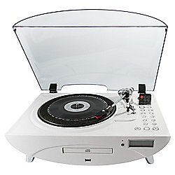 GPO Jive Turntable with FM Radio and CD White