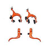 UH Road Dual Pivot Callipers & Brake Levers Fixie in Orange