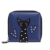 Blue Cat Applique Purse