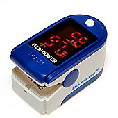 Finger Pulse Oximeter and Heart Rate Monitor (Includes Carrycase, Batteries and Lanyard)