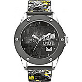 Marc Ecko Gents Rubber Patterned Strap Watch E09530G1