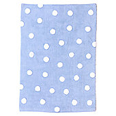 Lorena Canals Topos Blue Children's Rug - 120 cm W x 160 cm D (3 ft 11 in x 5 ft 3 in)