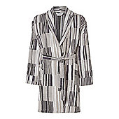 Monochrome Stripe Robe s/M