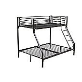 Homegear Triple Sleeper Metal Frame Bunk Bed Home Furniture Childern Kids Black