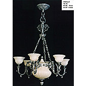 Martinez Y Orts 8 Light Casted Chandelier - Antique Silver