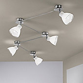 Linea Light Campana Five Light Spot Light in Brushed Nickel