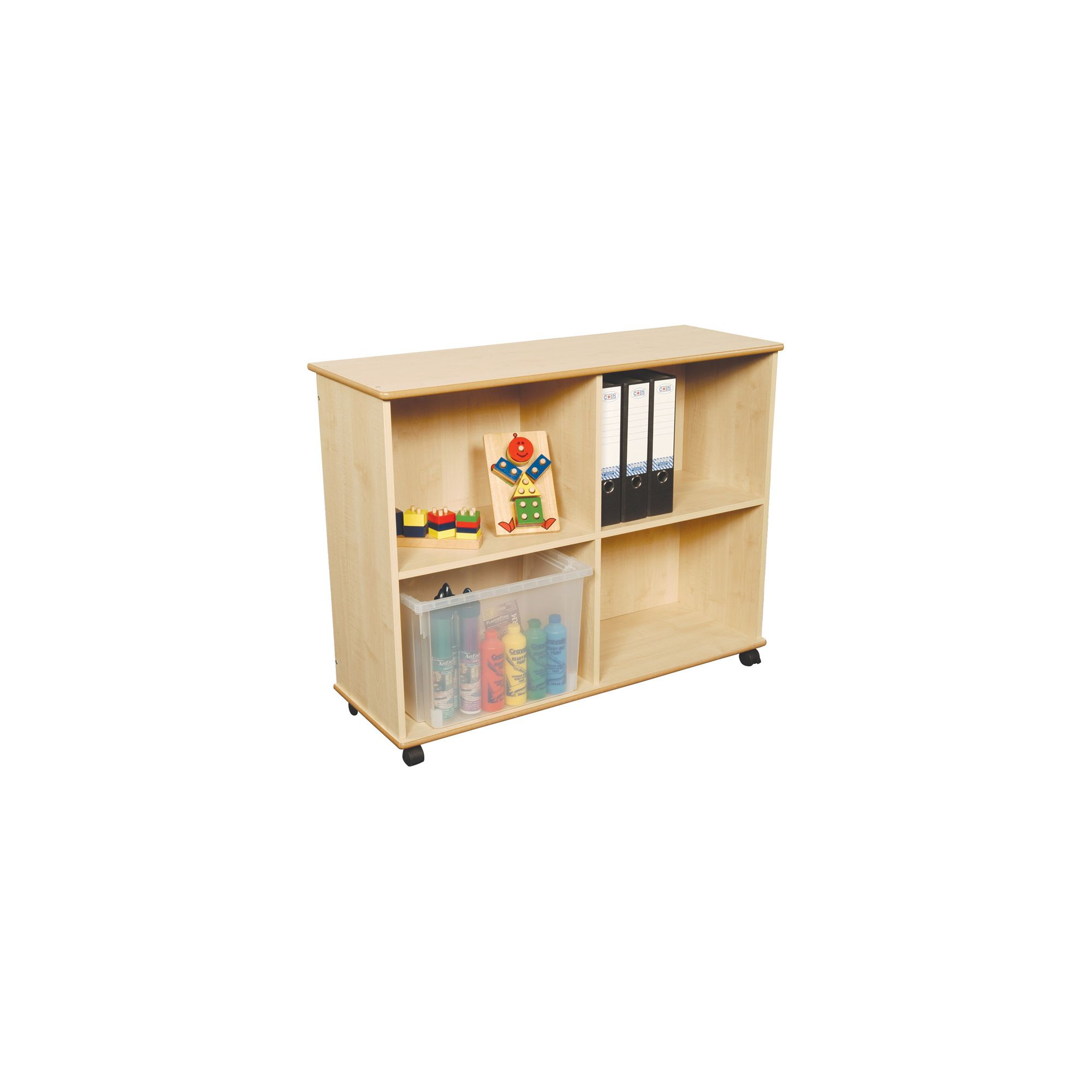 Liberty House Toys Maple 4 Section Storage Unit at Tesco Direct