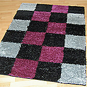 Origin Red Lotus Black / Purple Rug - 220cm x 160cm