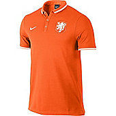 2014-15 Holland Nike Authentic League Polo Shirt (Orange) - Orange