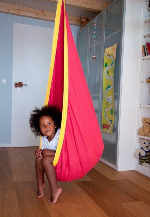 La Siesta Joki Children's Hanging Chair - Cherry