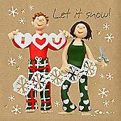 Holy Mackerel Greeting Card - Christmas Card - Let it Snow