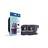Brother LC123 (Black) Twin Pack Ink Cartridges (600 Pages)