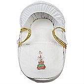 Clair de Lune Tippy Tumble White Wicker Moses Basket (White)