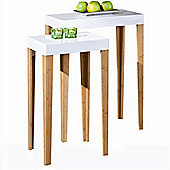 Set Of Two Side Tables - White