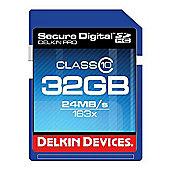 Delkin DDSDPRO3-32GB SD Pro Memory Card SDHC 163x