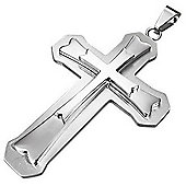 Urban Male Stainless Steel Large Cross Pendant