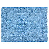 Tesco Reversible Bath Mat Cotton Blue