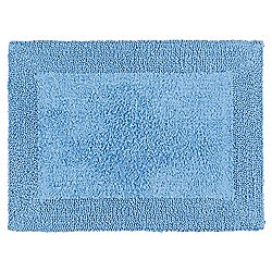 Tesco Reversible Bath Mat, Cotton Blue
