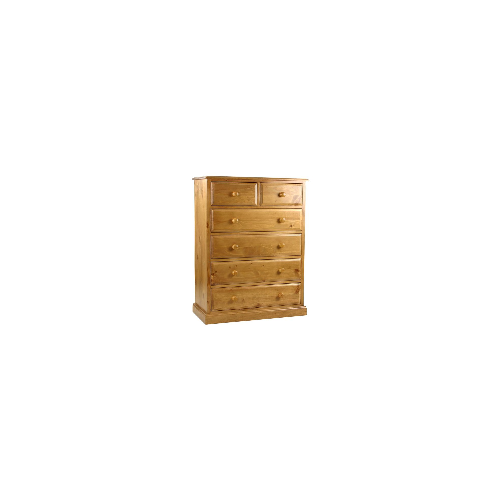 Kelburn Furniture Pine 2 Over 4 Drawer Large Chest in Antique Wax Lacquer at Tesco Direct