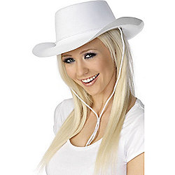Cowboy Hat - White Flocked