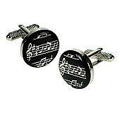 Musical Note Round Novelty Themed Cufflinks