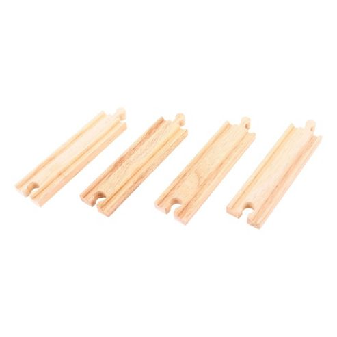 Bigjigs Rail BJT101 Medium Straights (Pack of 4)
