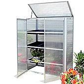 Nison Compact-Pro Aluminium Mini Greenhouse in Silver