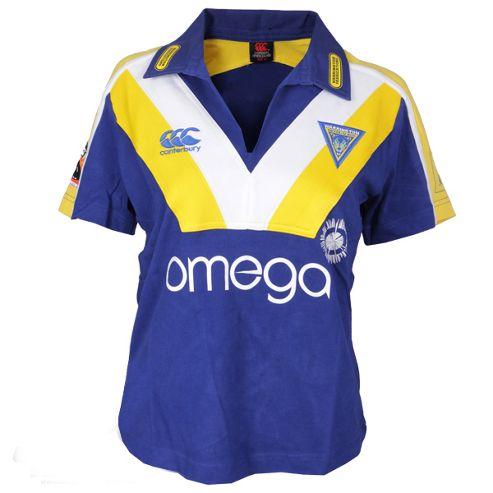 Canterbury Warrington Wolves Rugby League Ladies Home Shirt - Blue