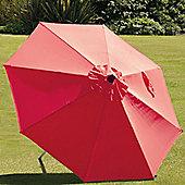 SunTime 2m Milano Push Up Parasol - Red