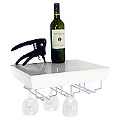 Monteray - Wall Mounted Wine Glass Storage Shelf - White