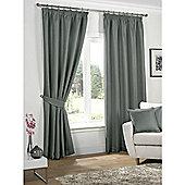 KLiving Neva Blackout Pencil Pleat Curtains 65x54 - Ocean (163x137cm)