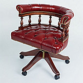 Curzon Gallery Collection Architect's Mid-Back Chair with Foam Interior - Red