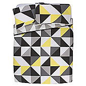 Tesco Geometric Triangles Duvet Set Double