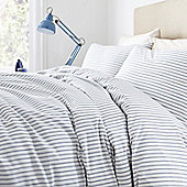 Red Ticking Stripe Duvet Set King