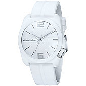 Black Dice Gents White Strap Watch BD-064-03