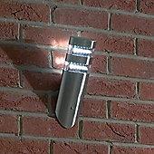 Endon Lighting Diagonal Wall Lantern in Stainless Steel
