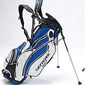 John Letters Unisex Torrance Golf Bag (Stand) in Blue & White & Black
