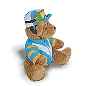 The Great British Teddy Bear Company - Jockey Blue & White 30cm Teddy Bear