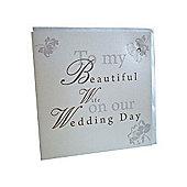 Shabby Chic Wife Wedding Card