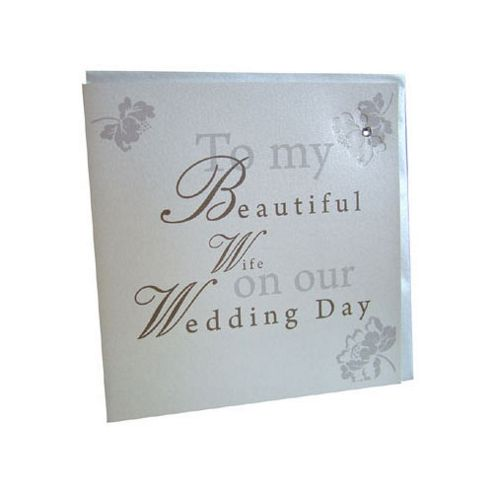 Wedding Gift List Tesco : ... Shabby Chic Wife Wedding Card from our All Wedding Gifts rangeTesco