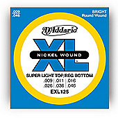 D'Addario EXL125 Electric Guitar Strings- Sup Light/Reg