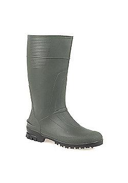 Spirale Rugged Wellington Boot Green - 10 - Green