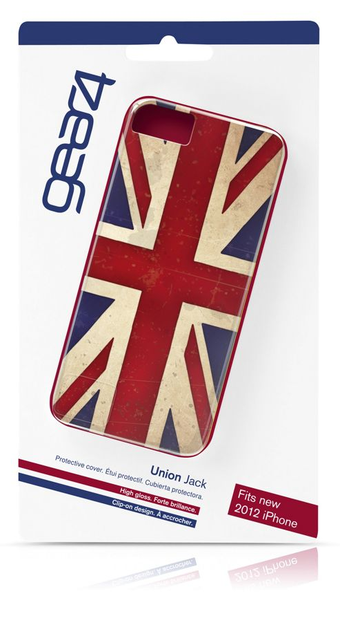 Gear4 Hard Clip-On Case Cover for iPhone 5/5S - Union Jack