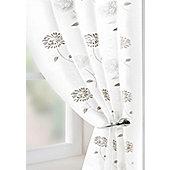 Carnation Voile Curtain Panel - Cream