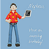 Holy Mackerel Greeting Card - Nephew amazing birthday Birthday card