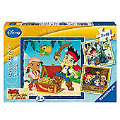 Jake and the Never Land Pirates 3 x 49 Piece Puzzles