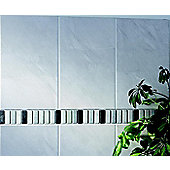 Dartmoor Natural Marble White/Blk Border 305x48mm